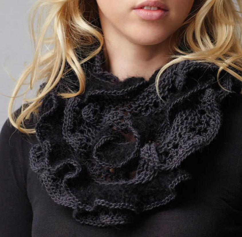Ruffle Scarf Knitting Pattern