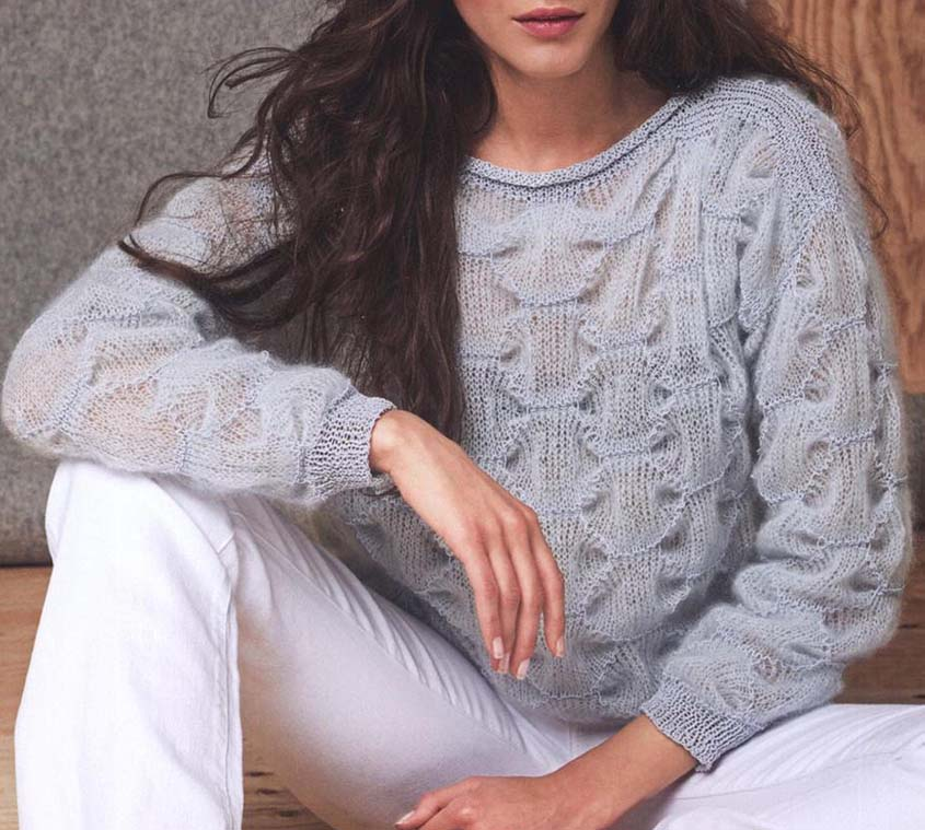 Free Knitting Pattern Mohair Pullover